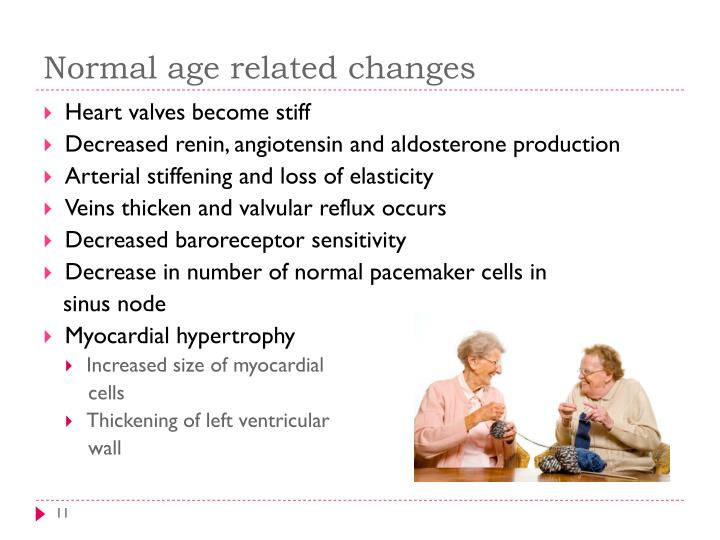 Normal age related changes