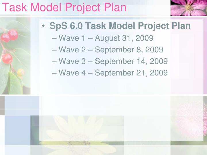 Task Model Project Plan