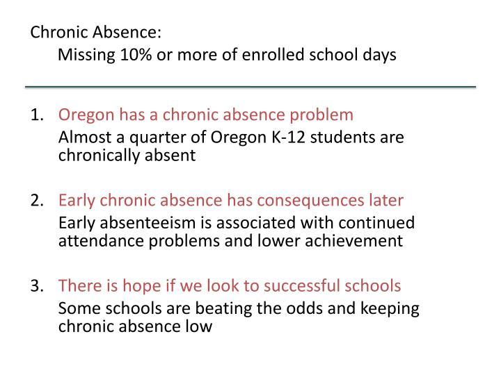 Chronic Absence: