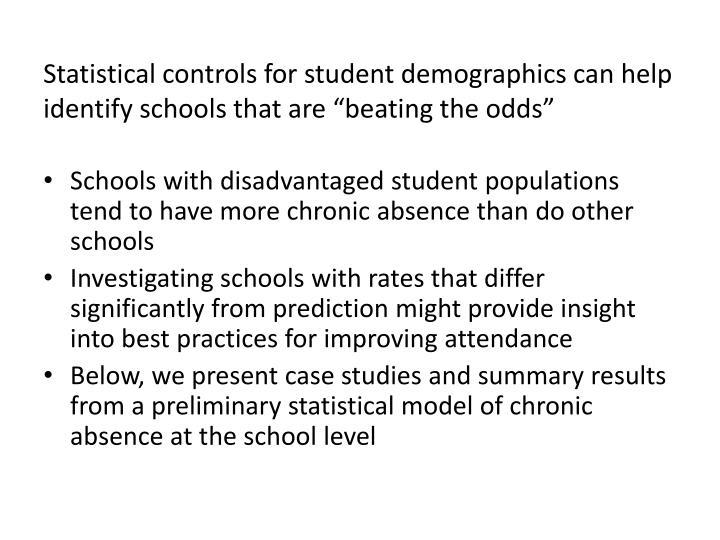Statistical controls
