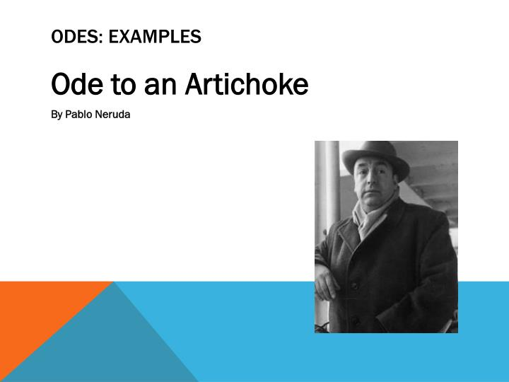 Odes: examples