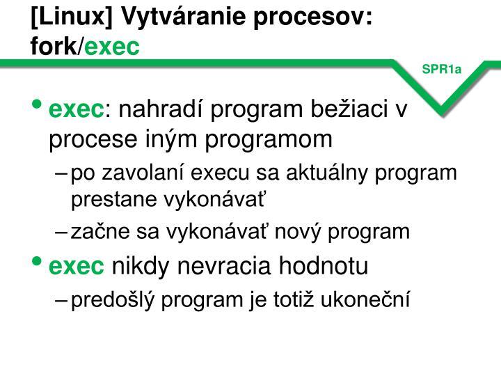 [Linux] Vytváranie procesov: fork/