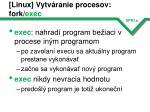 linux vytv ranie procesov fork exec3