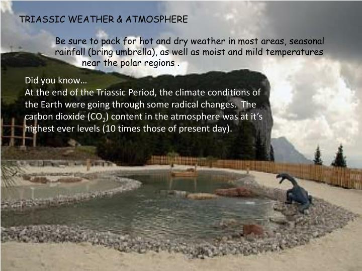 TRIASSIC WEATHER & ATMOSPHERE