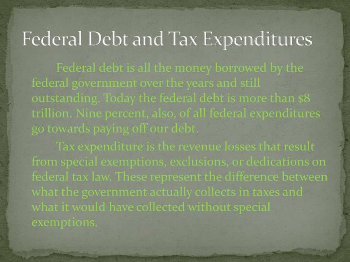 Federal Debt and Tax Expenditures