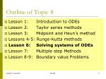 outline of topic 8
