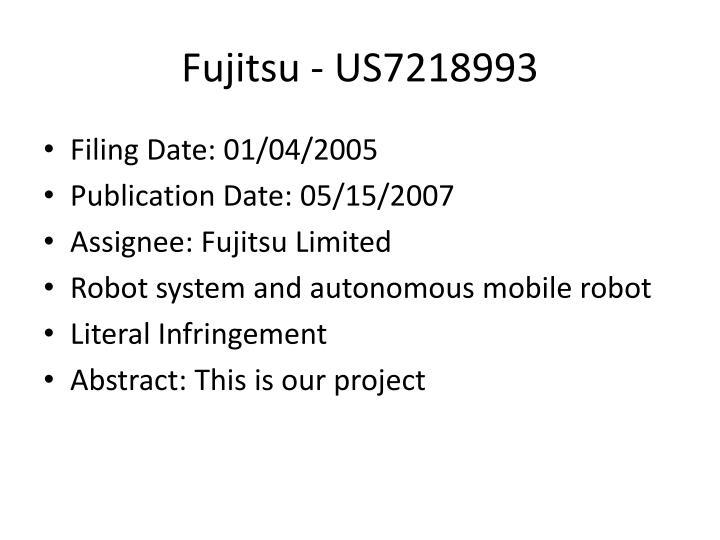 Fujitsu - US7218993