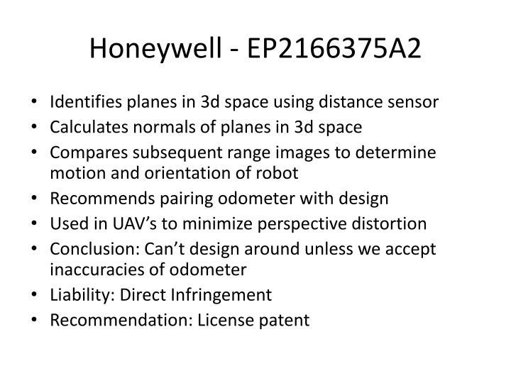 Honeywell - EP2166375A2