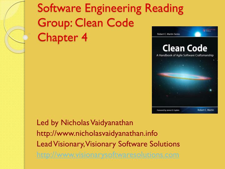 software engineering reading group clean code chapter 4