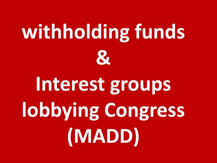 withholding funds