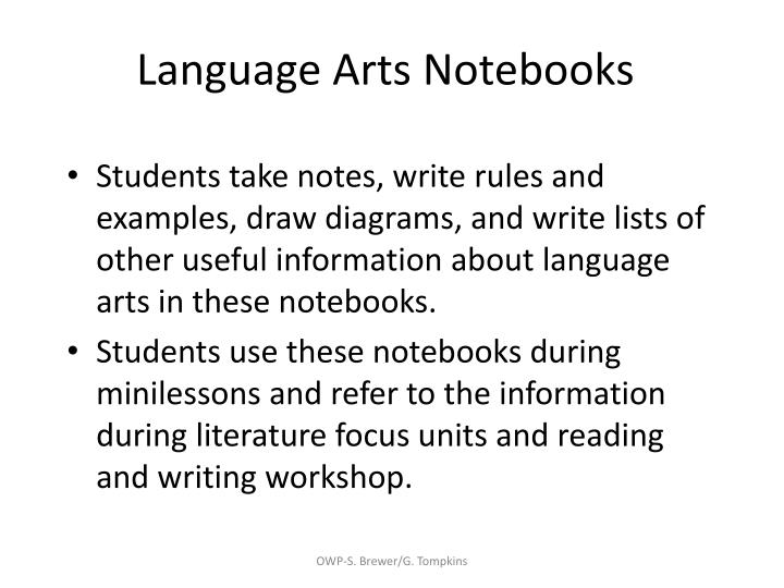 Language Arts Notebooks