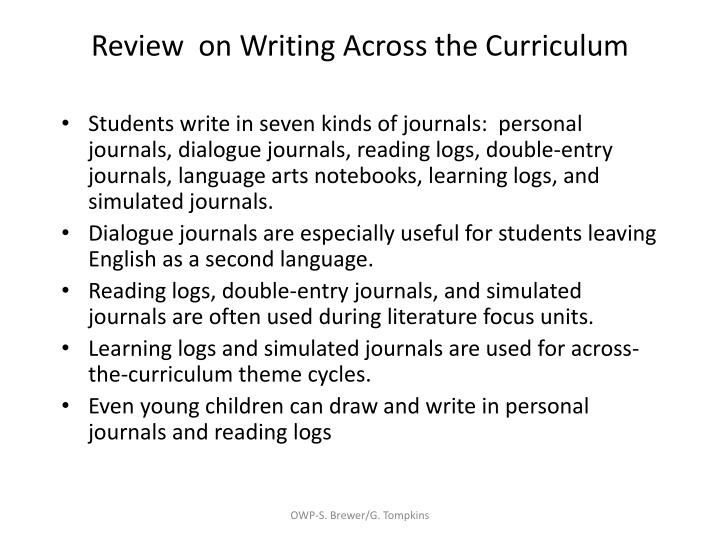 Review  on Writing Across the Curriculum