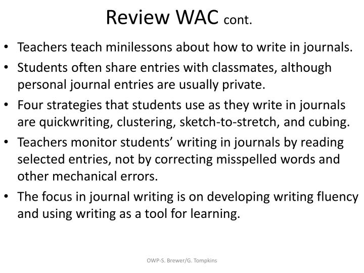 Review WAC