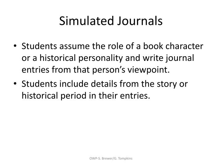 Simulated Journals