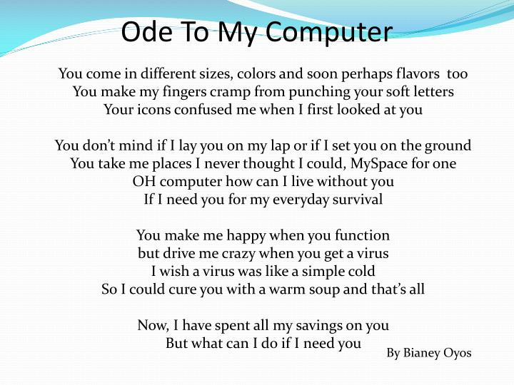 Ode To My Computer