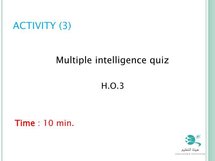 ACTIVITY (3)