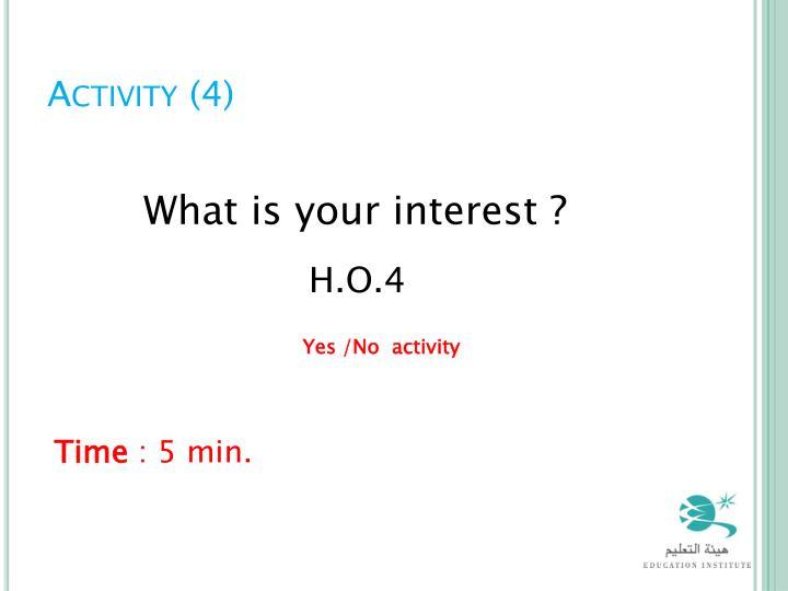 Activity (4)