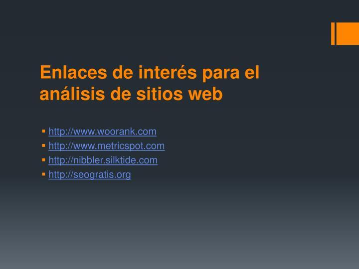 Enlaces de interés para el análisis de sitios web
