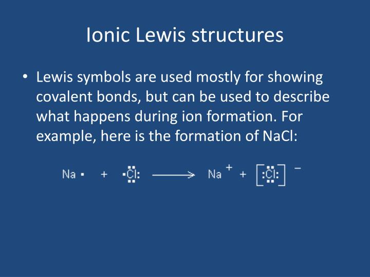 Ionic Lewis structures