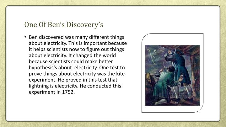 One Of Ben's Discovery's