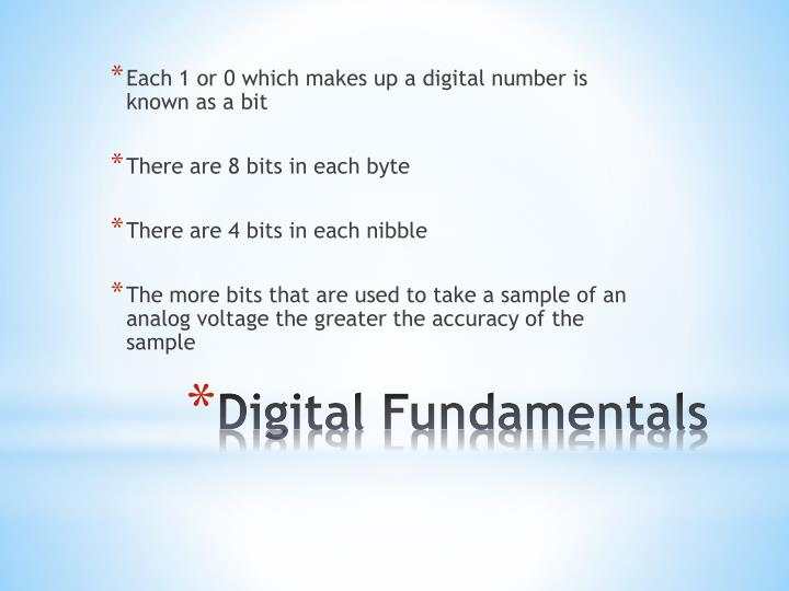 Each 1 or 0 which makes up a digital number is known as a bit