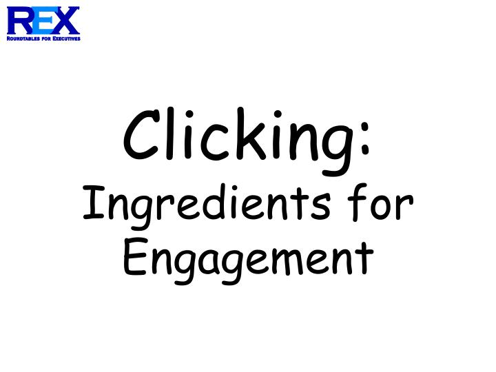 Clicking ingredients for engagement