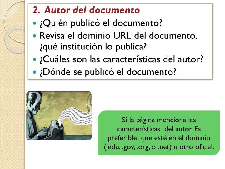 2.  Autor del documento