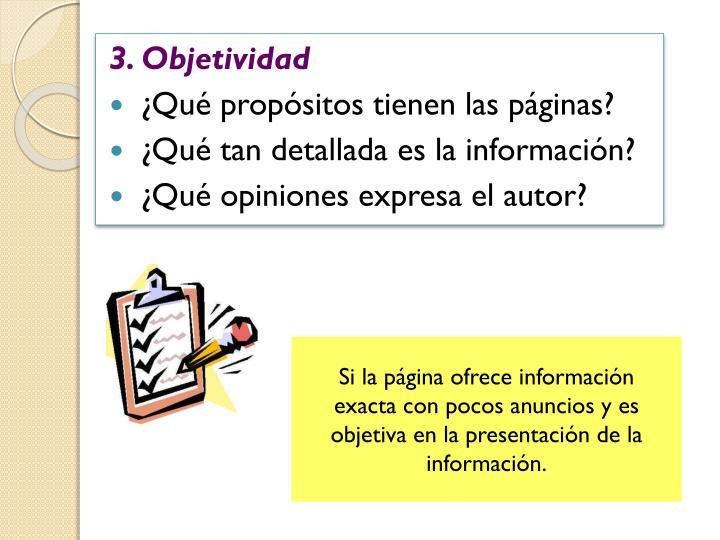 3. Objetividad