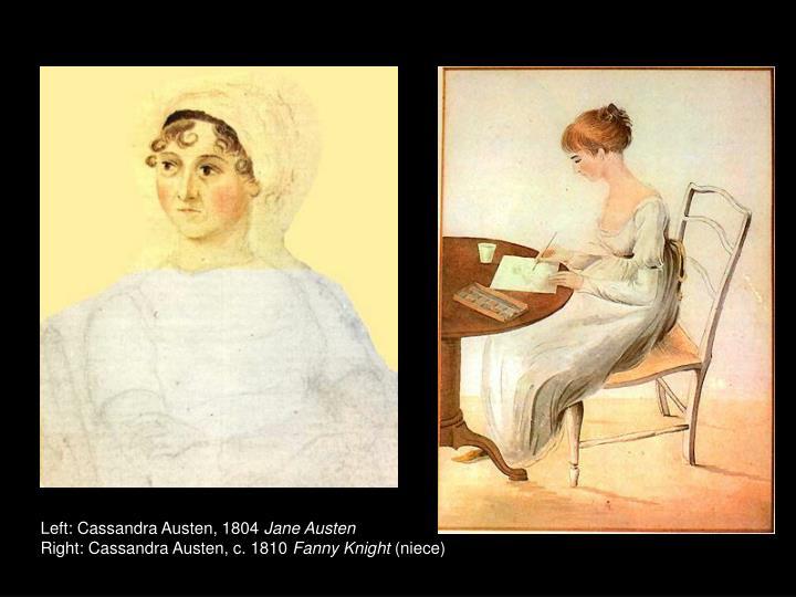 Left: Cassandra Austen, 1804