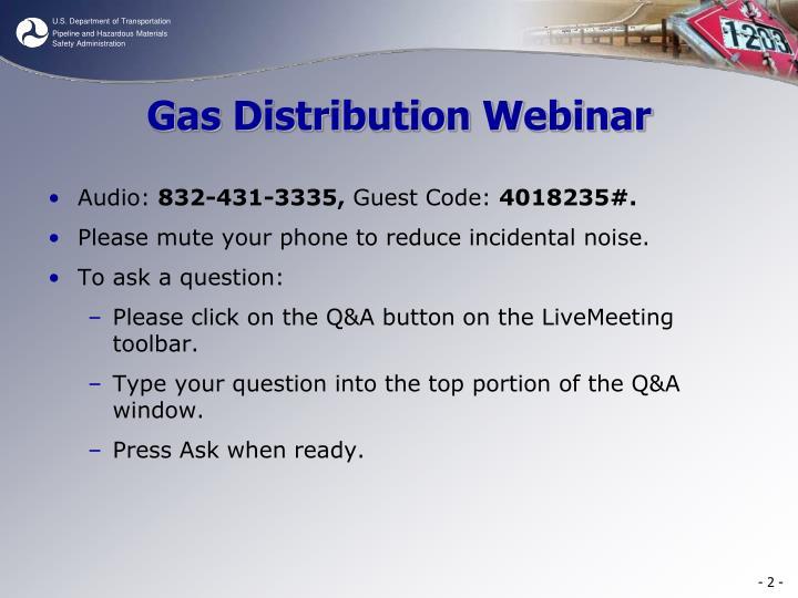 Gas Distribution Webinar