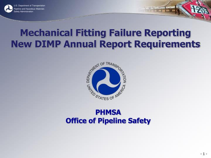 Mechanical Fitting Failure Reporting