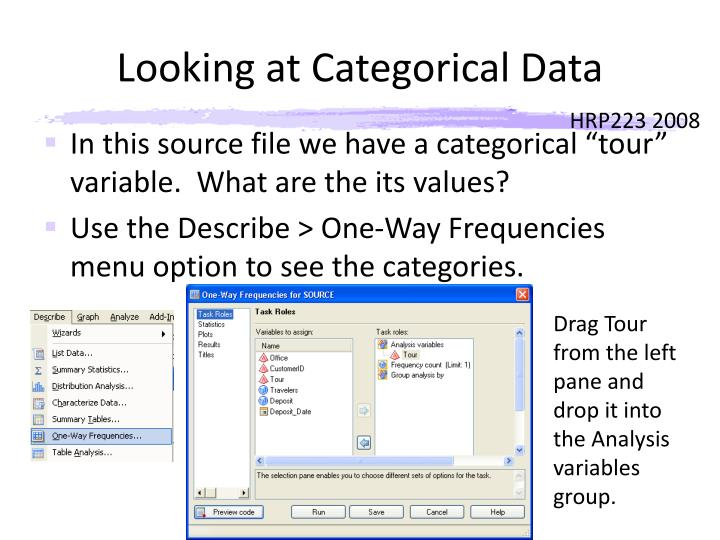 Looking at Categorical Data