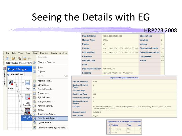 Seeing the Details with EG