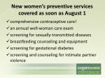 new women s preventive services covered as soon as august 1