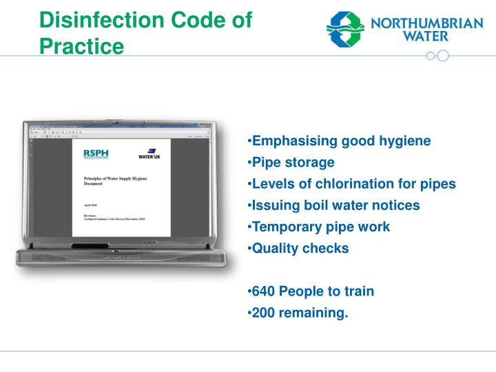 Disinfection Code of Practice