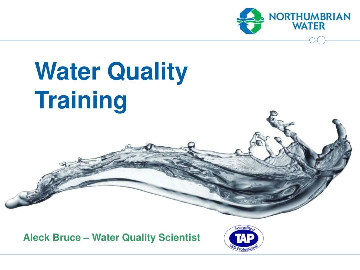 Water Quality Training