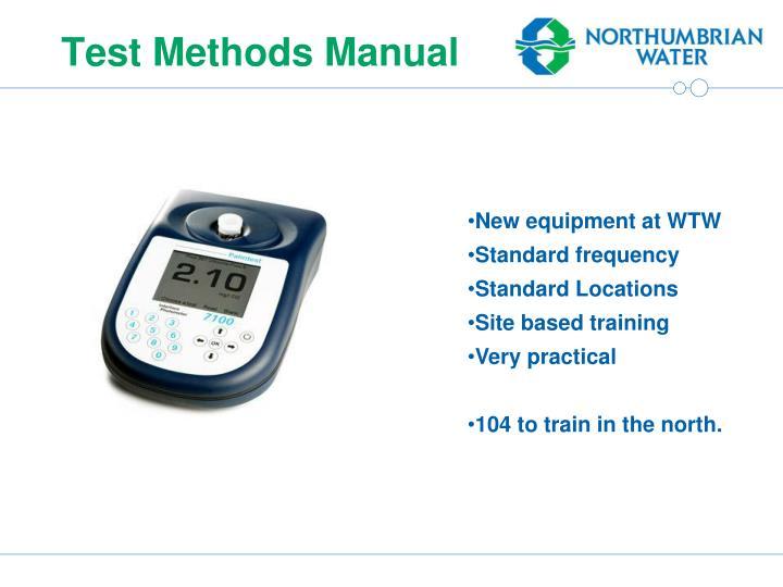 Test Methods Manual