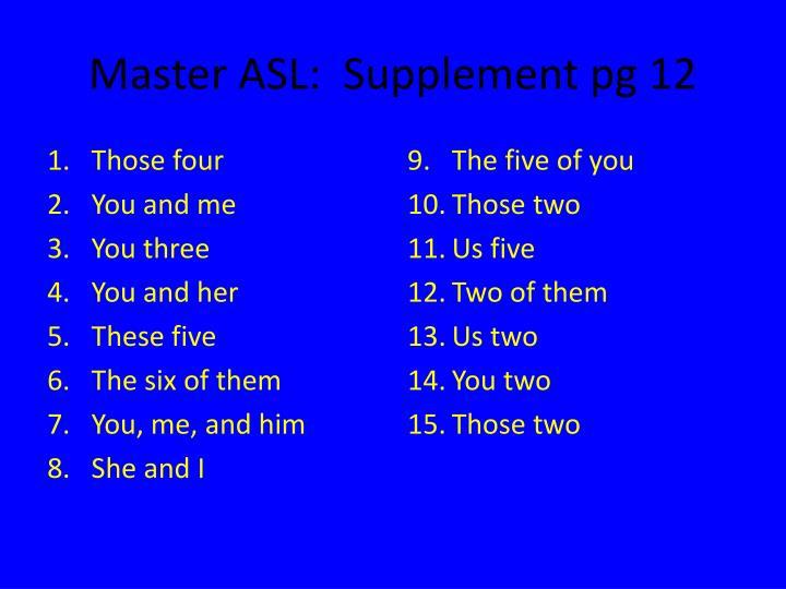 Master ASL:  Supplement pg 12