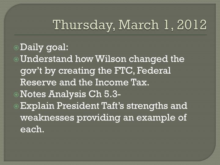 Thursday, March 1, 2012