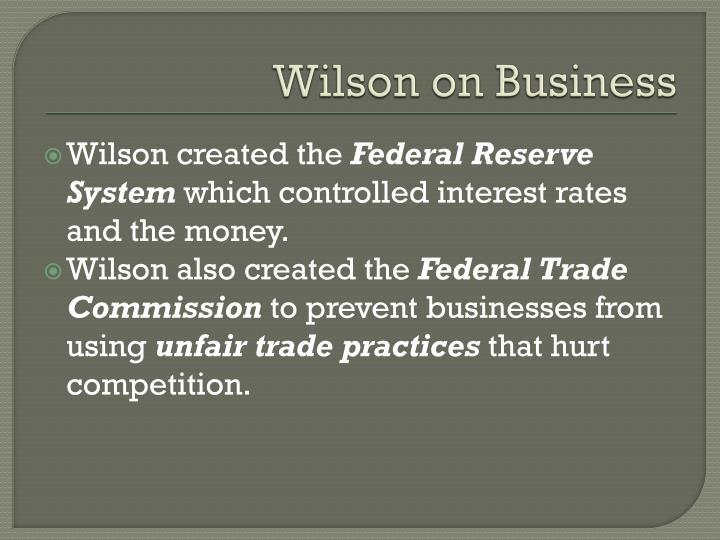 Wilson on Business
