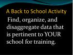 a back to school activity