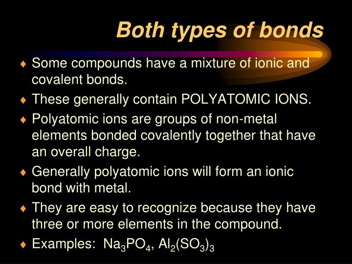Both types of bonds