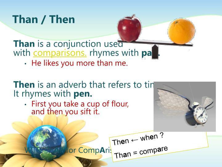 Than / Then