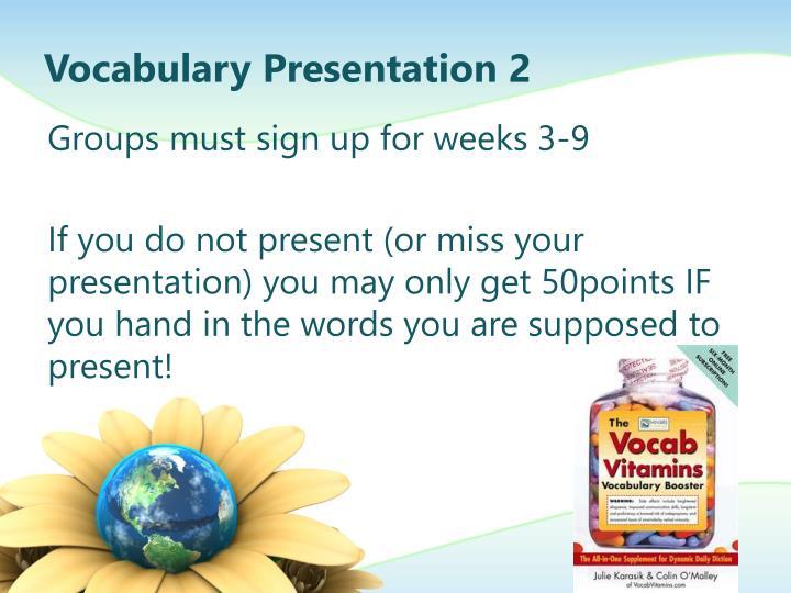 Vocabulary Presentation 2