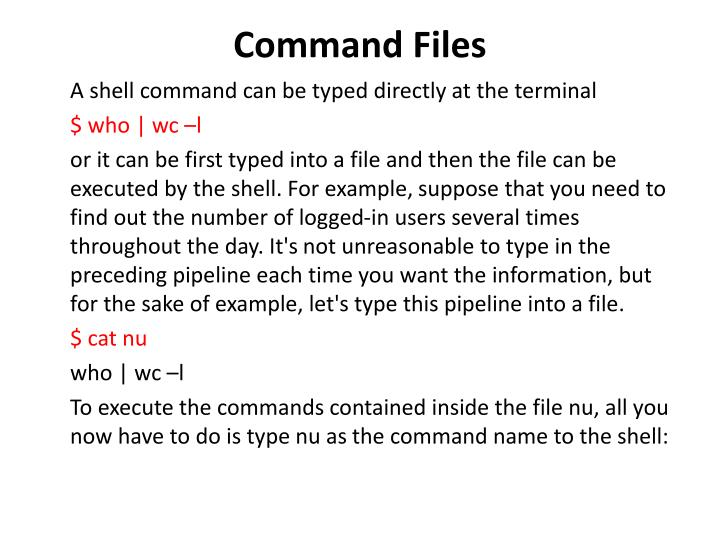 Command files