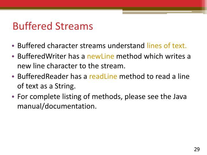 Buffered Streams