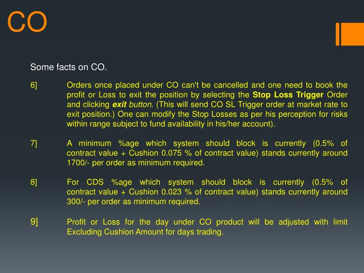 Some facts on CO.