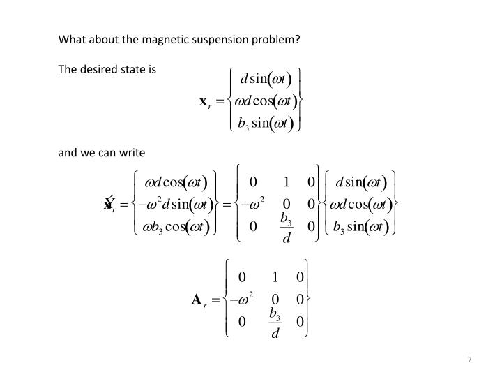 What about the magnetic suspension problem?