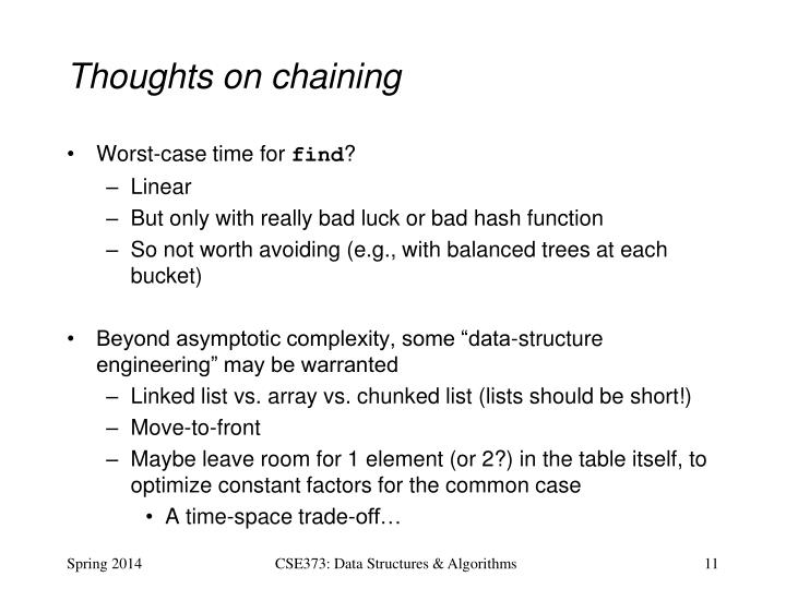 Thoughts on chaining