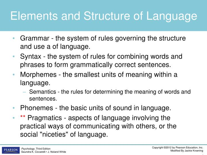 Elements and Structure of Language